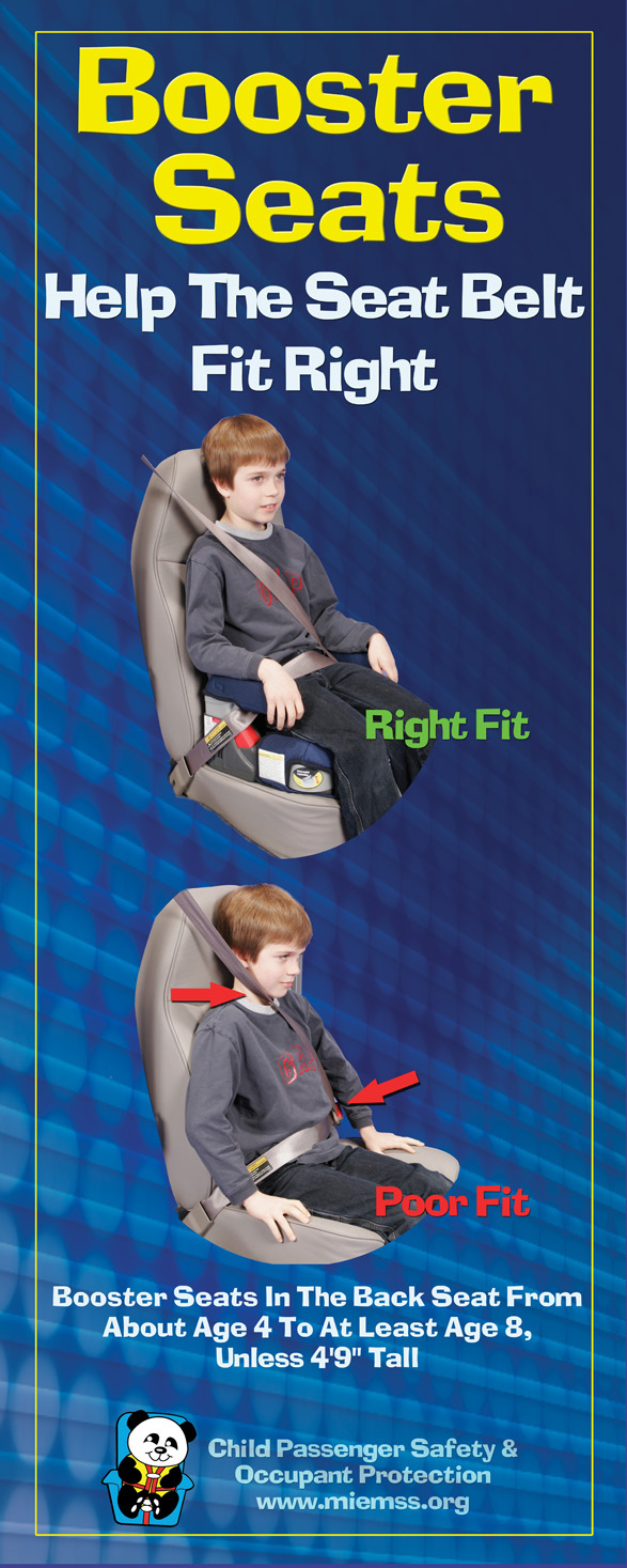 Booster Seats: Help the Seat Belt Fit Right