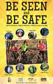 Be Seen Be Safe Poster - English version