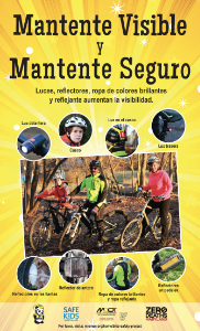 Be Seen Be Safe Poster - Spanish version